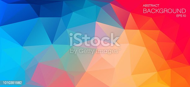 Bright Color flat background with triangles for web design