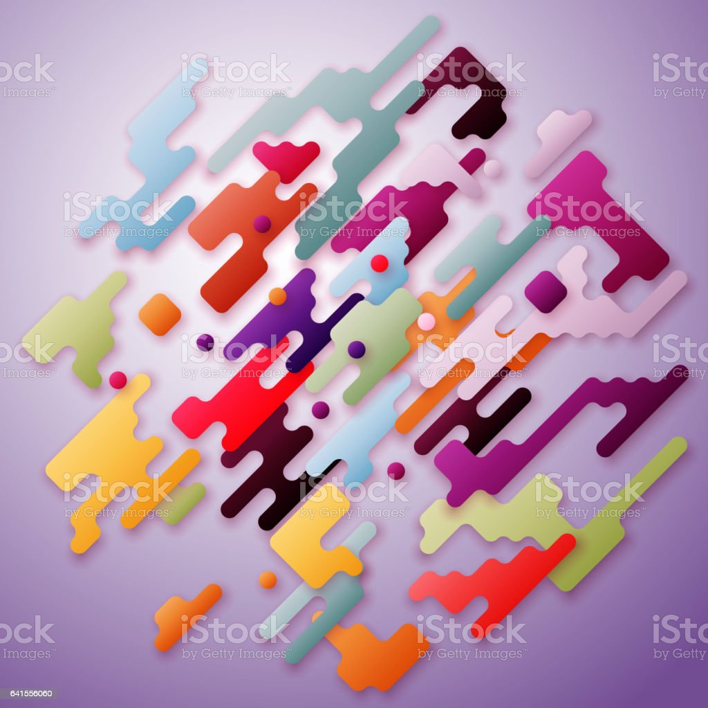 Bright Color Lines And Dots Colorful Minimalist Design With