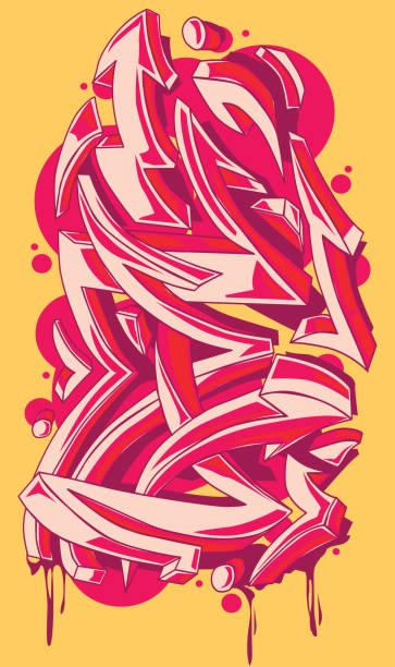 illustrations, cliparts, dessins animés et icônes de flèches lumineuses couleur graffiti - graffiti