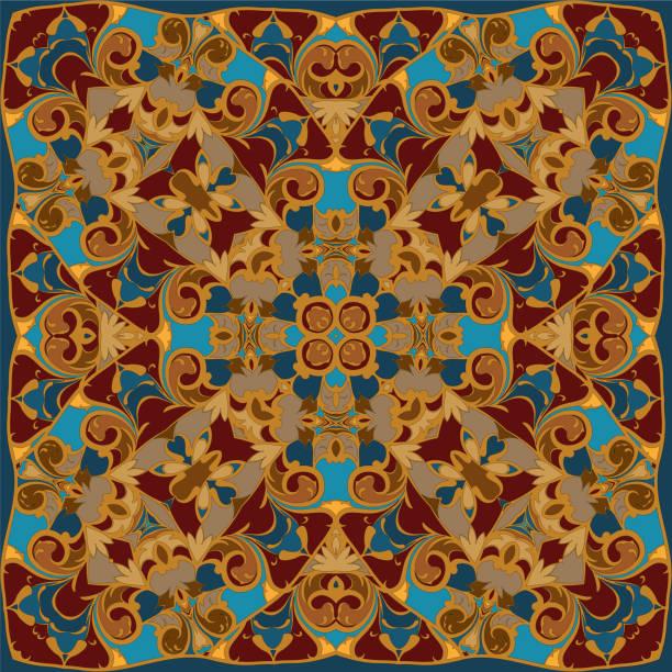 helle farbige taschentuch - pashminas stock-grafiken, -clipart, -cartoons und -symbole