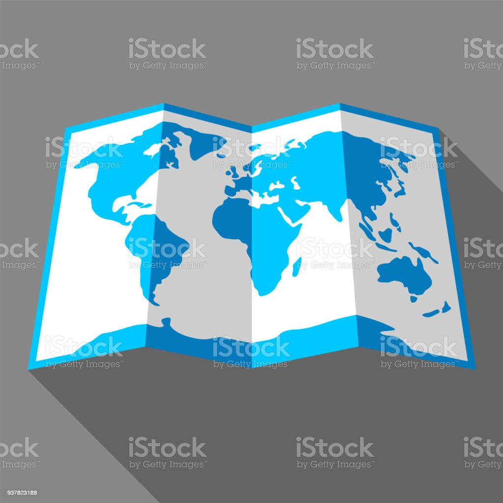 Bright colored map vector art illustration