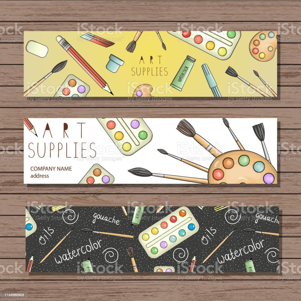 Bright colored stationery, writing materials, office, school or art...