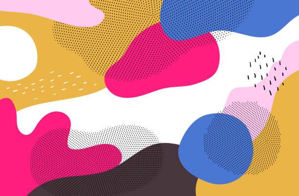 Helle bunte Hintergrund - moderne Vektor abstrakte Komposition – Vektorgrafik