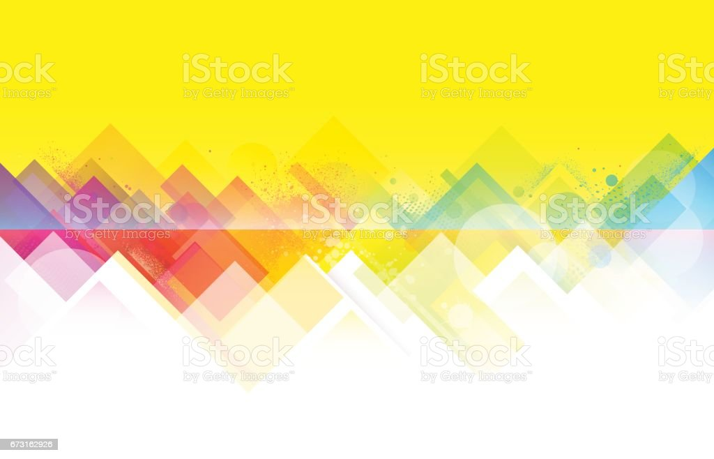 Bright colorful summer background vector art illustration