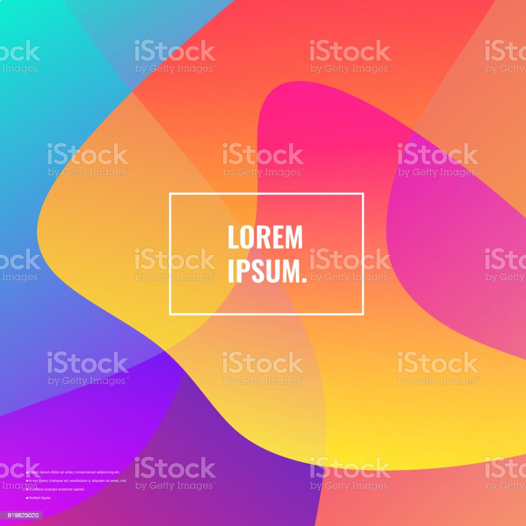 Bright colors background vector art illustration