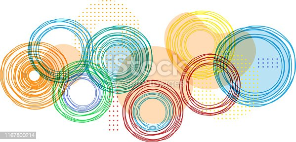 colorful circles background design element