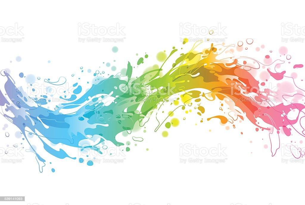 Bright colourful vector background vector art illustration