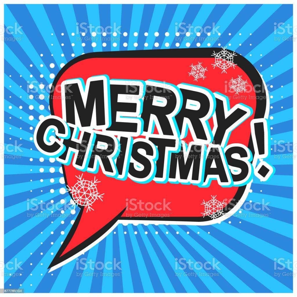 Burbuja de diálogo de Navidad-Feliz Navidad
