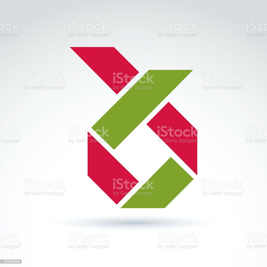 Bright composite corporate geometric element vector art illustration
