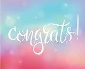 Bright congratulations card