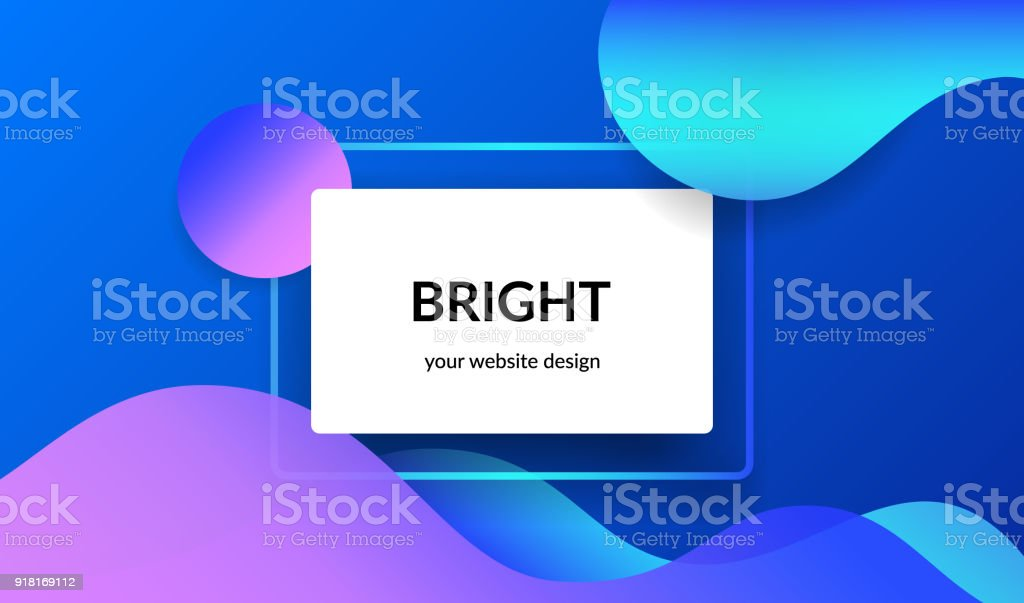 Bright design for corporate and personal website abnners and presentation slides. vector art illustration