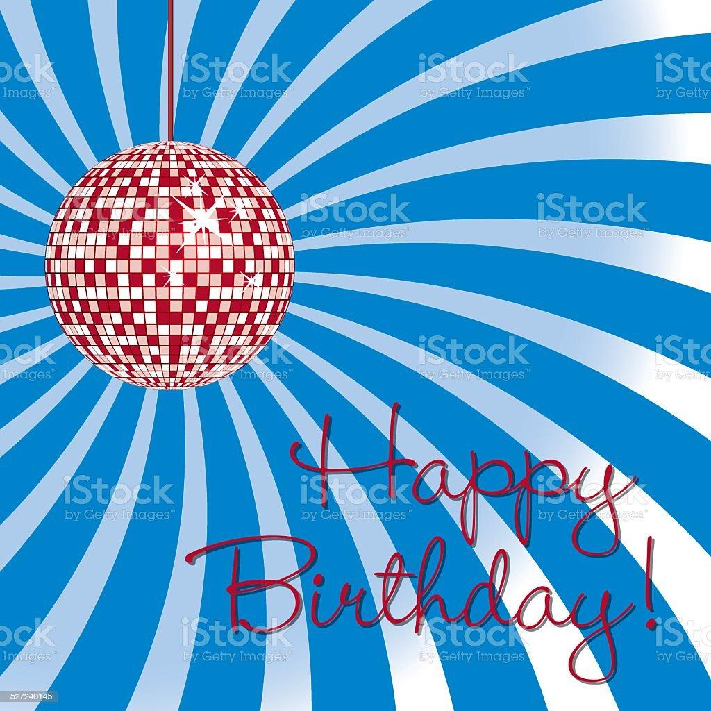 Lumineuse De Boule Disco Carte De Joyeux Anniversaire Illustration Au Format Vecteurs Libres De Droits Et Plus D Images Vectorielles De 1980 Istock