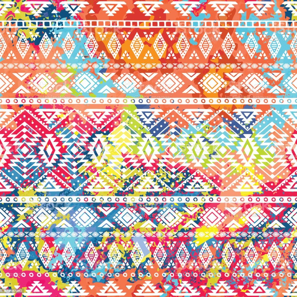 Bright ethnic pattern. vector art illustration