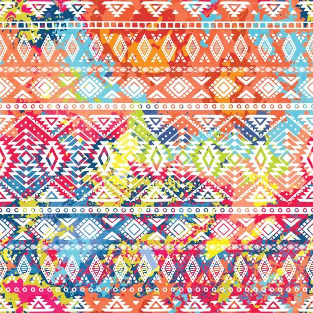 bright ethnic pattern. - bohemian fashion stock illustrations, clip art, cartoons, & icons
