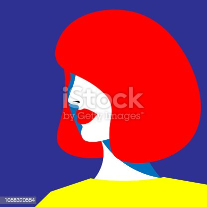 Bright fashion girl in the style of pop art. Vector graphics