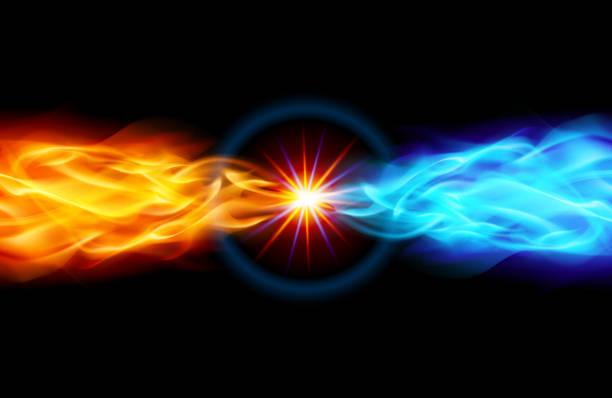 illustrazioni stock, clip art, cartoni animati e icone di tendenza di luminosa stelle incandescente - ice on fire
