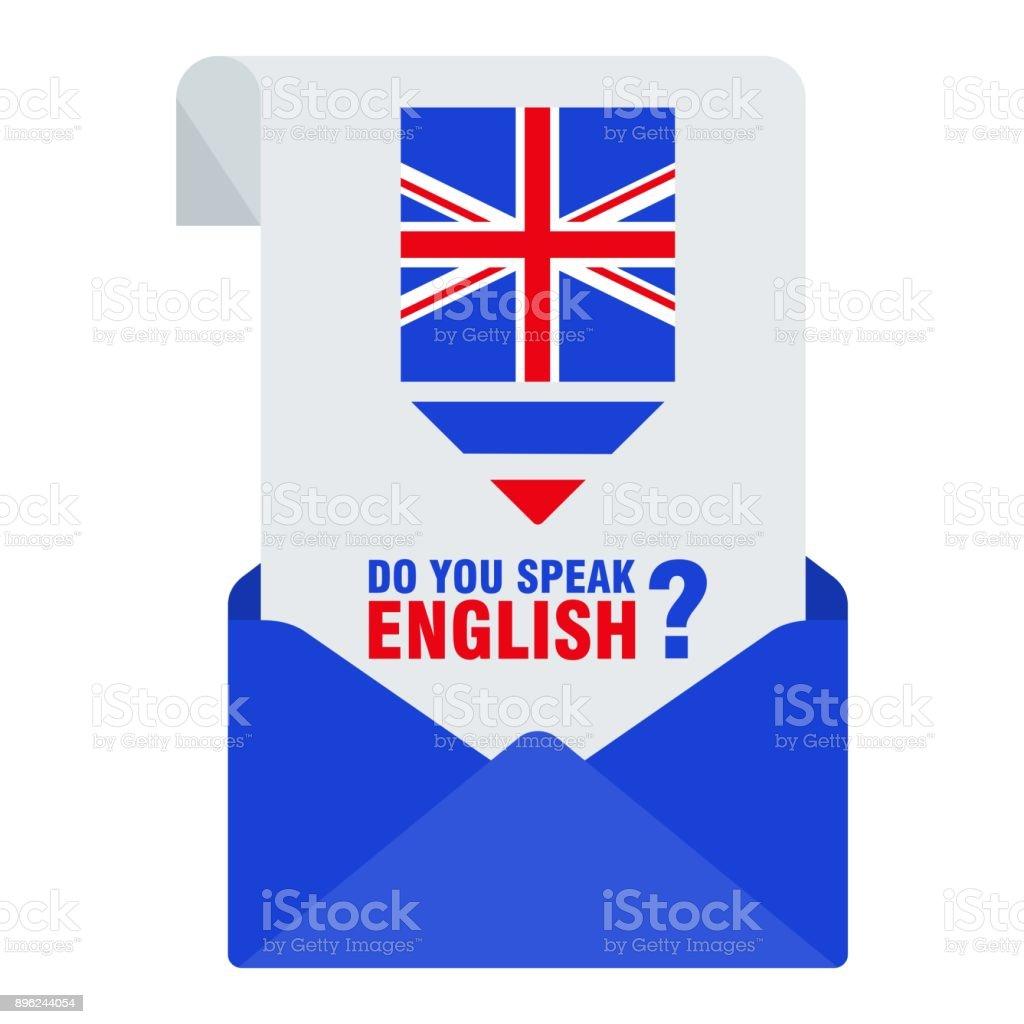 c35f28ab8ac Bannières de vecteur plat lumineux avec enveloppe pour l apprentissage de  la langue anglaise.