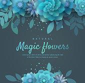 Bright floral arrangement for the invitation.
