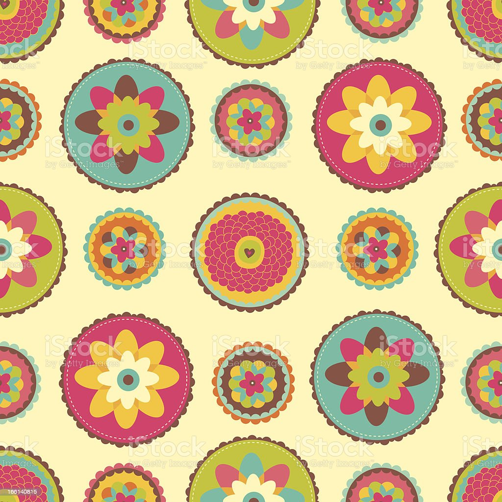 Bright floral pattern. royalty-free stock vector art