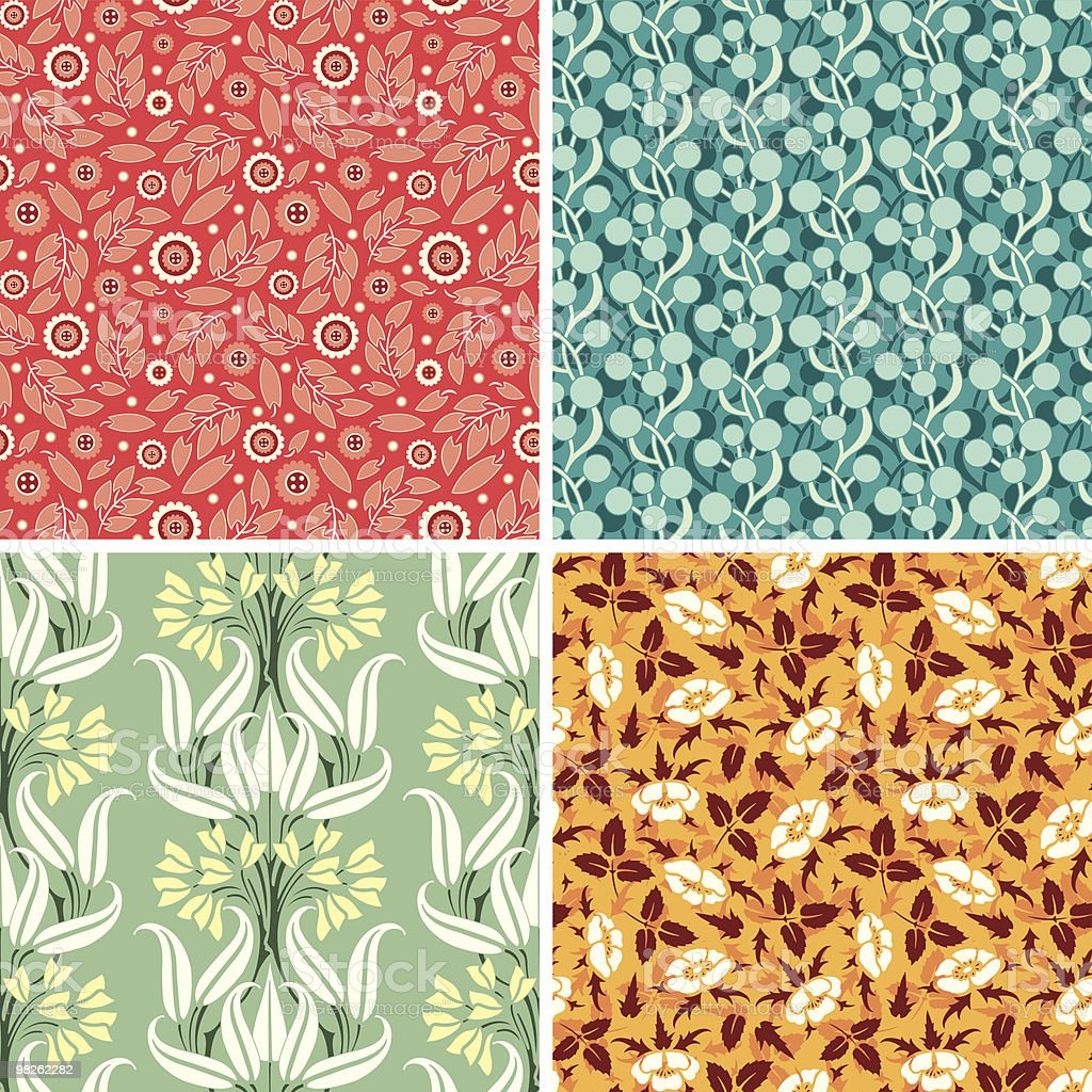 bright floral patterns royalty-free bright floral patterns stock vector art & more images of backgrounds