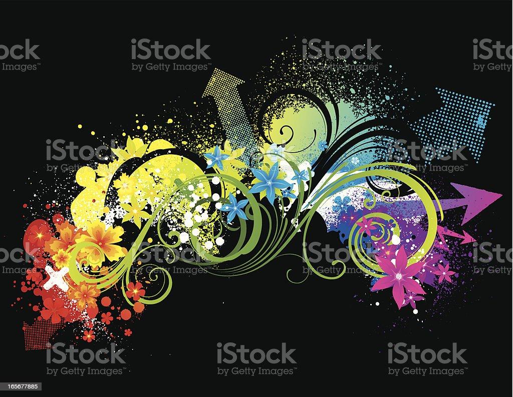Bright floral splash royalty-free stock vector art