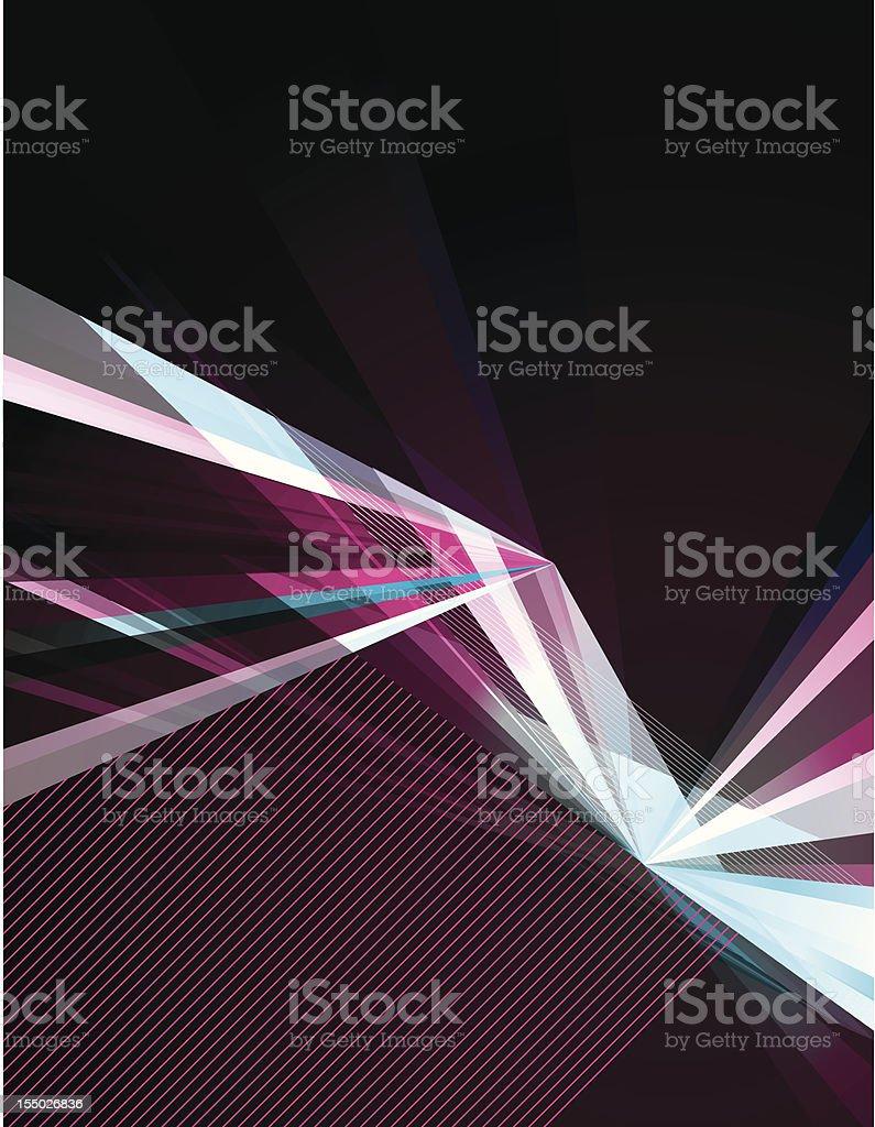 Bright Fractal vector art illustration