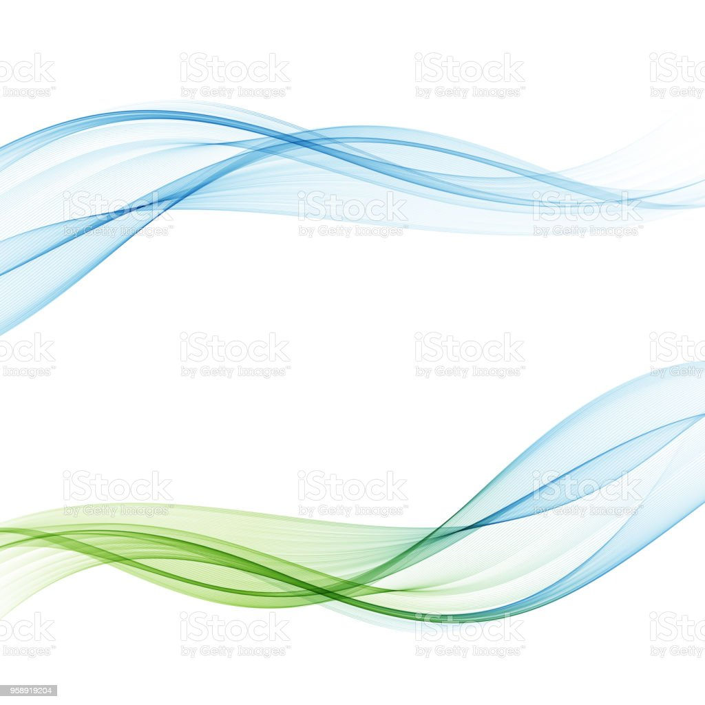 Bright fresh speed mild spring light waves collection. Abstract web smooth mild divider lines Vector illustration vector art illustration