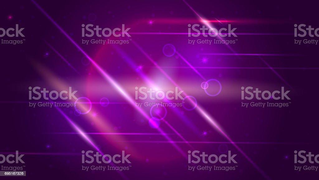 Hell leuchtende Kugel gefüllt mit Partikeln und Staub. Dynamische digitale, Technologie-Kulisse für breaking News oder Abdeckung – Vektorgrafik
