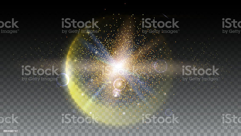 Bright glowing ball filled with particles and dust royalty-free bright glowing ball filled with particles and dust stock vector art & more images of abstract