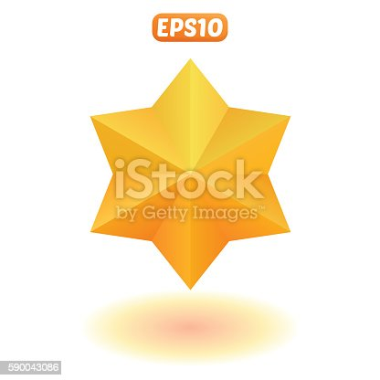 istock Bright gold star 590043086