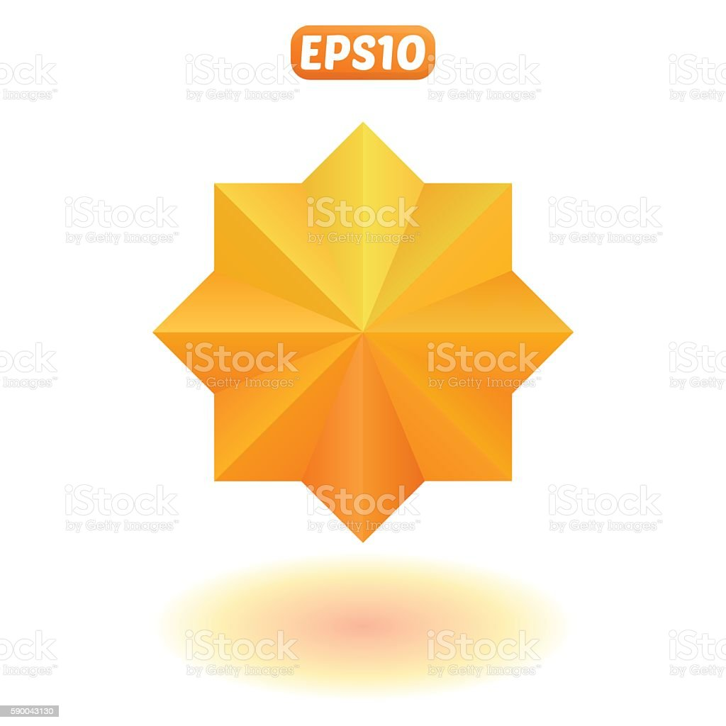 Bright gold star vector art illustration