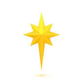 istock Bright golden Christmas star 1081339374