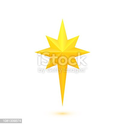 istock Bright golden Christmas star 1081339374