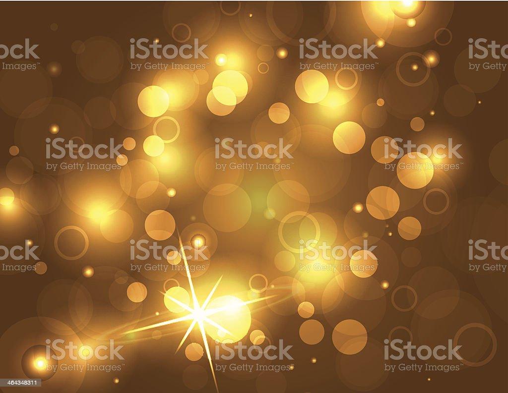 Bright Golden Glittering Vector background vector art illustration