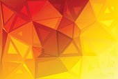 Bright golden yellow abstract random sizes low poly geometric background