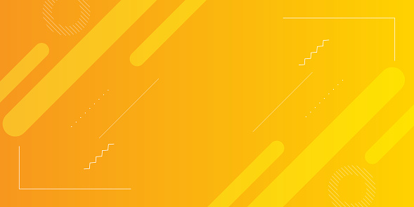 Bright gradient yellow color of lanterns with elements of minimal geometric details. EPS10 vector template.