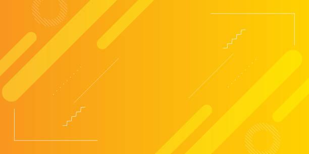 최소한의 기하학적 세부 사항의 요소와 등불의 밝은 그라데이션 노란색 색상. eps10 벡터 템플릿입니다. - 노랑 stock illustrations