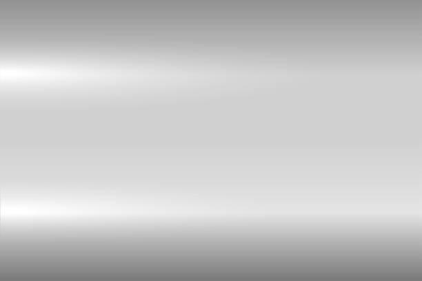 ilustrações, clipart, desenhos animados e ícones de textura metálica cinza brilhante. superfície de metal polida brilhante. de fundo vector - cromo metal