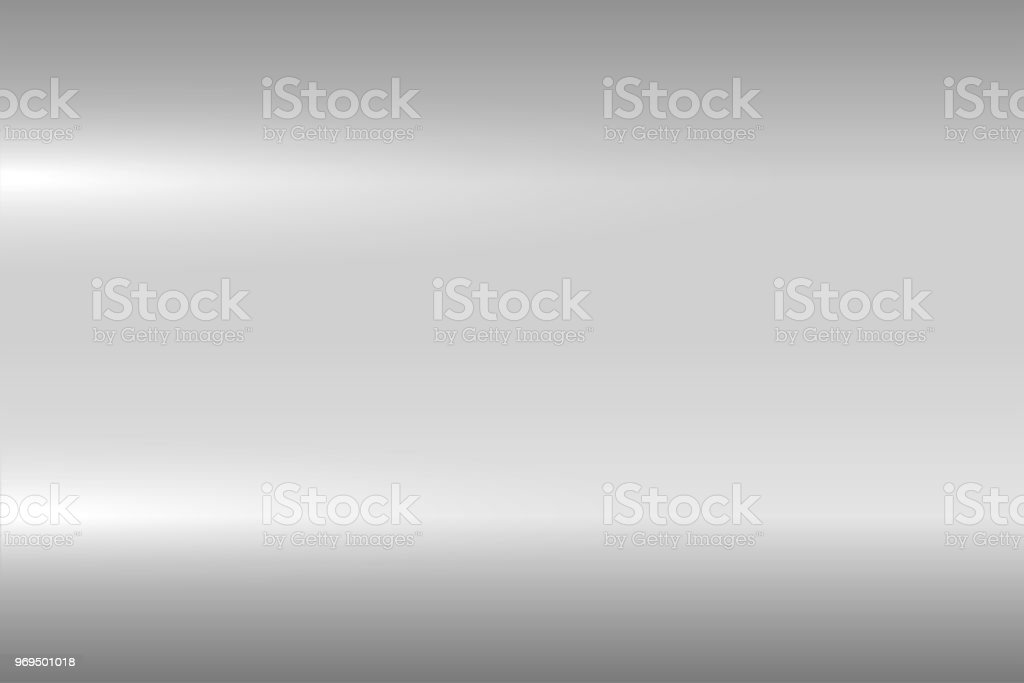 Bright gray metallic texture. Shiny polished metal surface. Vector background vector art illustration