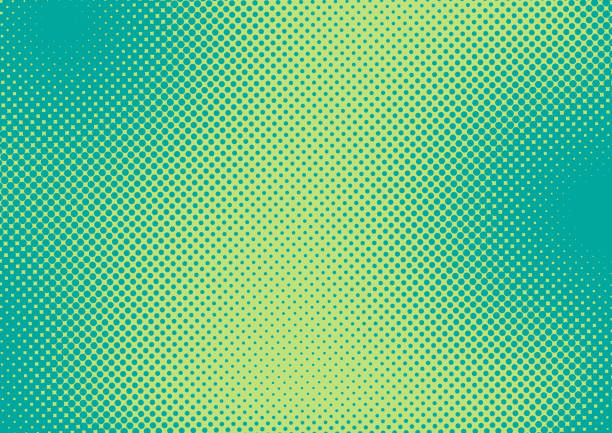 bright green and turquoise pop art retro background with halftone in comic style, vector illustration eps10 - half tone stock illustrations, clip art, cartoons, & icons