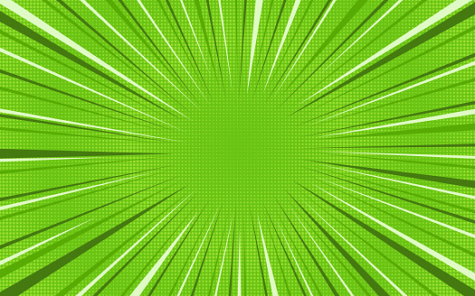 Bright green exploding retro comic background