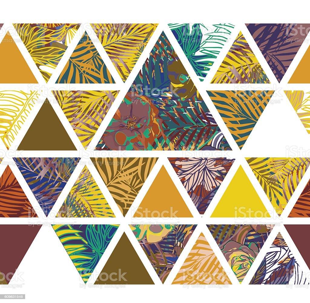 Bright hawaiian pattern vector art illustration