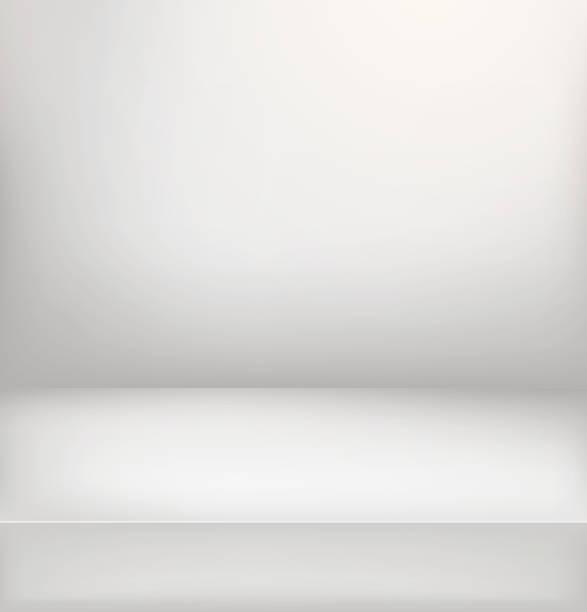 hell beleuchtete bühne. vektor-illustration. vertikale werbung vorlage - ausstellungstische stock-grafiken, -clipart, -cartoons und -symbole