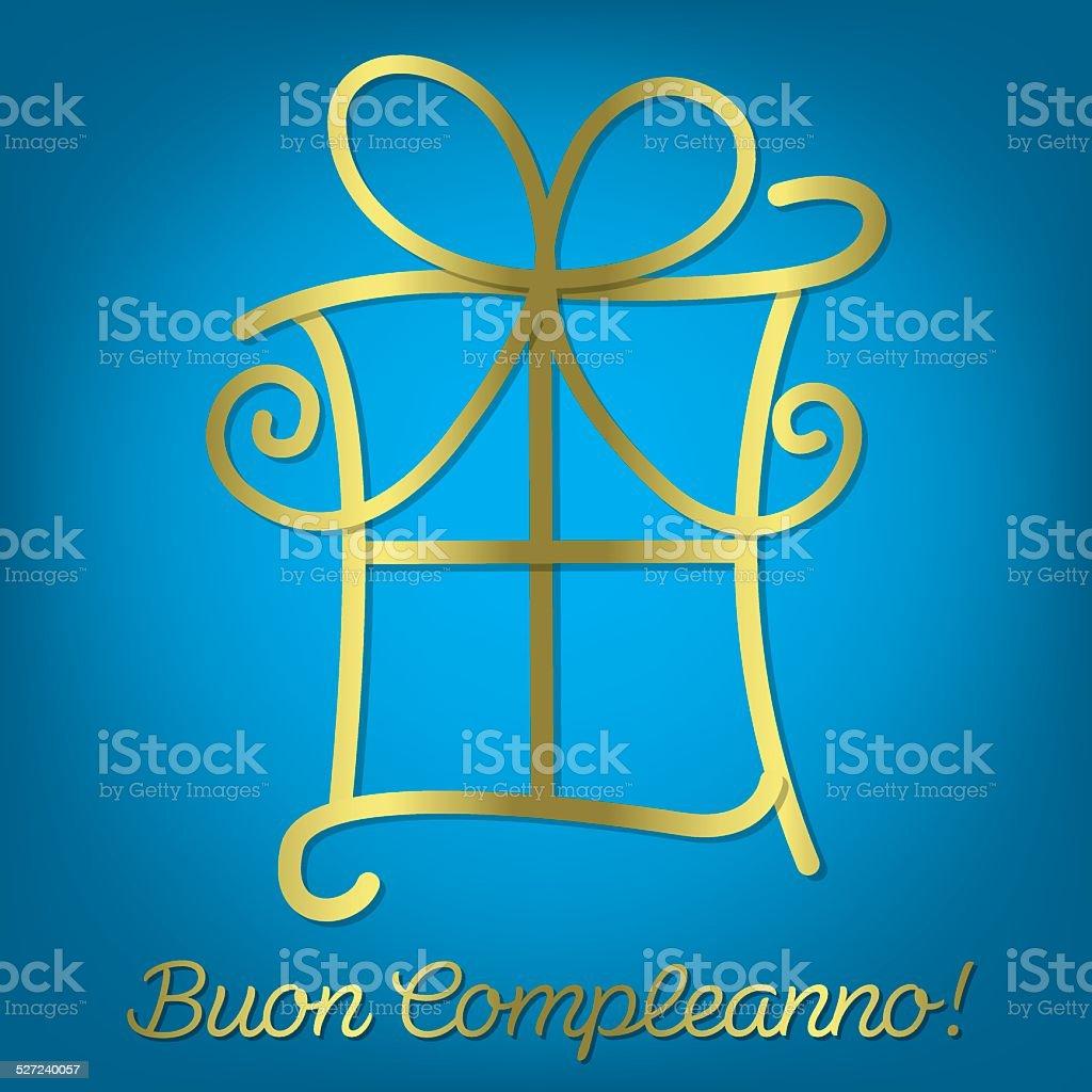 Carte Anniversaire Italien.Italien Lumineux Joyeux Anniversaire Carte De Vecteur Format