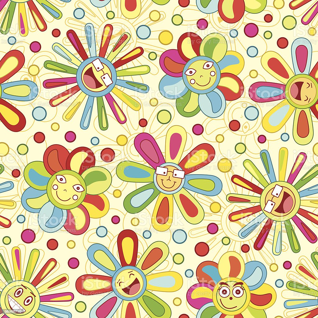 bright joyful flowers royalty-free bright joyful flowers stock vector art & more images of backgrounds