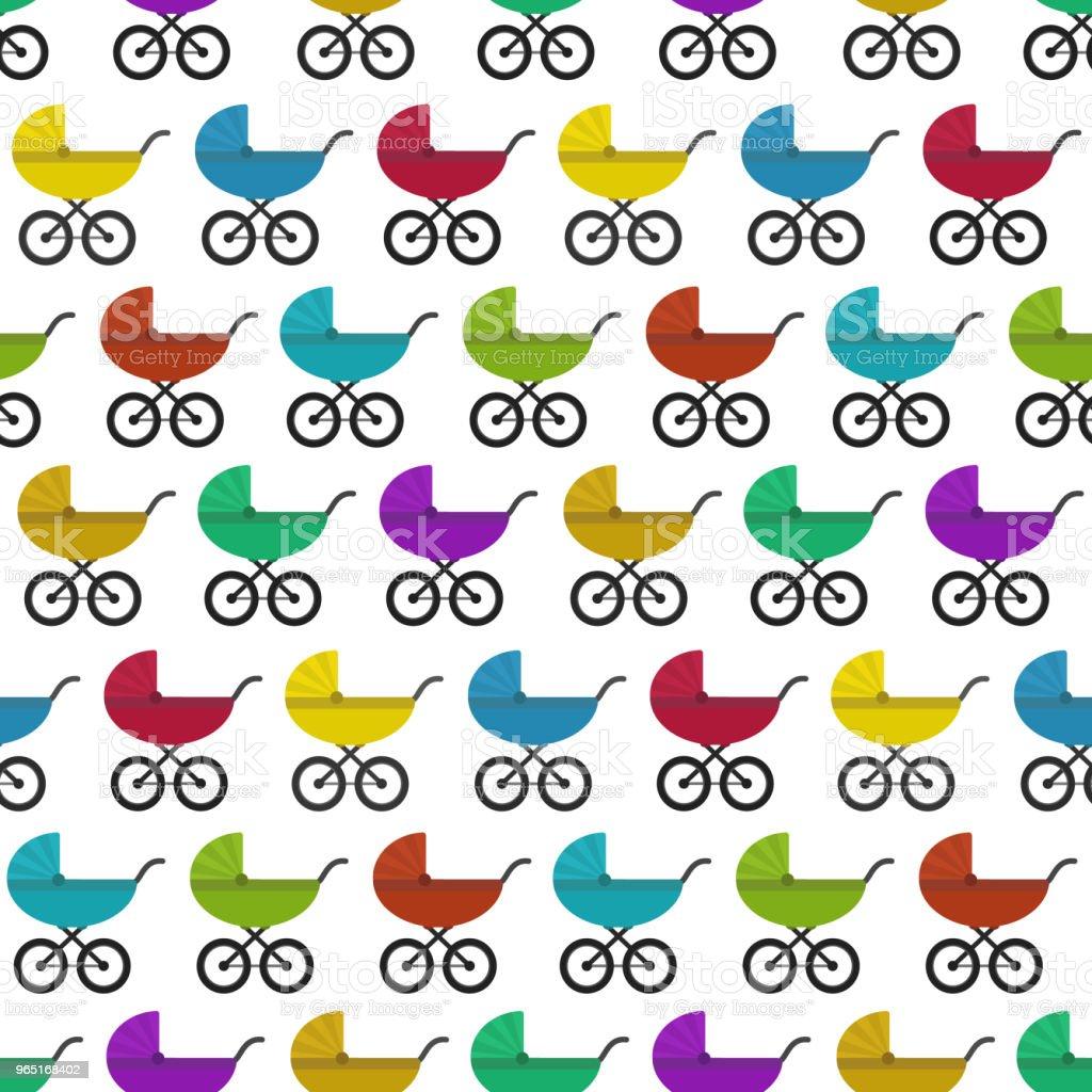 Bright kids pattern with colorful baby prams bright kids pattern with colorful baby prams - stockowe grafiki wektorowe i więcej obrazów bez ludzi royalty-free