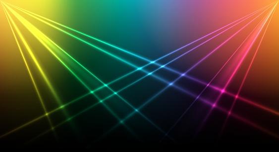 Bright laser background