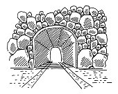 Bright Light At End Of Tunnel Drawing