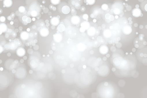 Bright Light grey high key bokeh dot background
