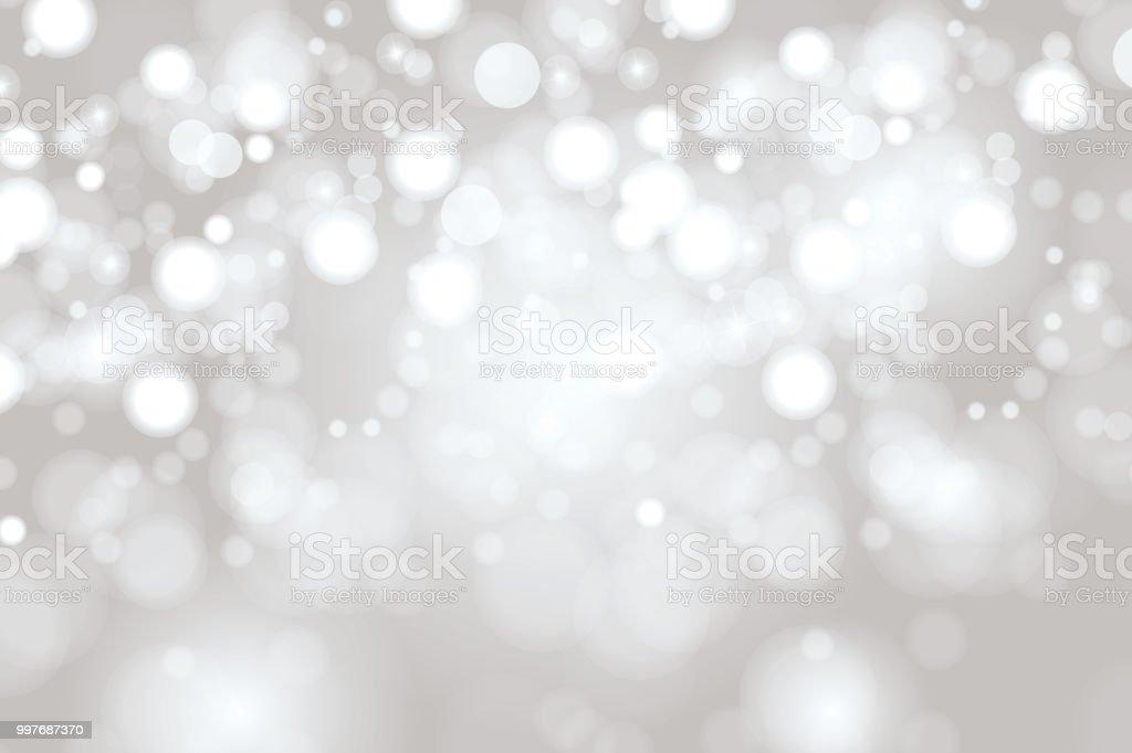 Bright Light grey high key bokeh dot background vector art illustration